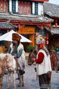 Travel photography:Lijiang horse men, China