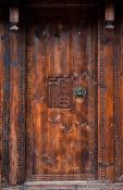 Travel photography:Old wooden door in Lijiang, China