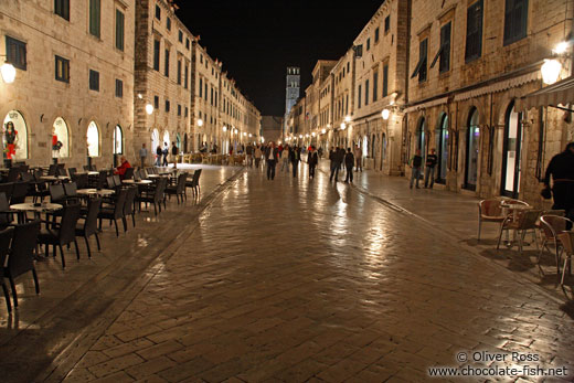 Dubrovnik main street by night