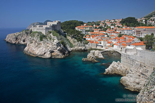 View from Dubrovnik`s city wall