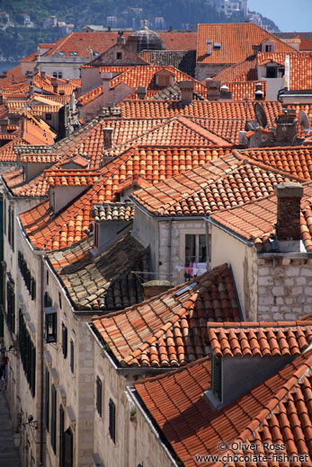 Terracotta rooftops in Dubrovnik