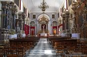 Travel photography:Inside Saint Saviour`s Church in Dubrovnik, Croatia