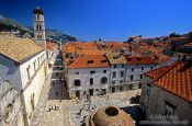 Travel photography:Aerial view of Dubrovnik main street, Croatia