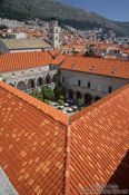 Travel photography:View of Dubrovnik from the city walls, Croatia