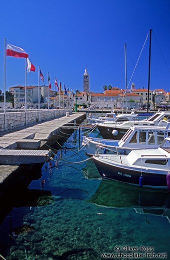 Boat harbour in Rab