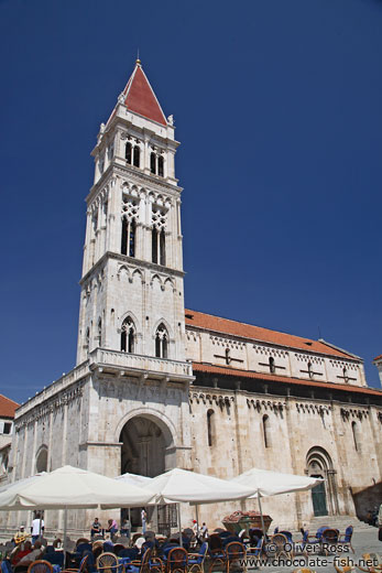 Bell tower of the Katedrala Sveti Lovrijenac (Saint Lawrence Cathedral) in Trogir
