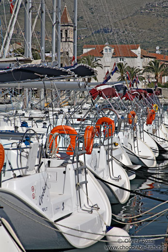 Boats in Trogir harbour