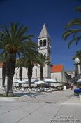 Travel photography:The promenade along the river in Trogir, Croatia