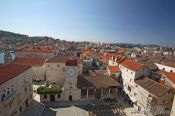 Travel photography:Aerial view of Trogir, Croatia