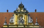 Travel photography:Facade near Zagreb Cathedral, Croatia