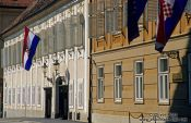 Travel photography:Parliament building along Trg Svetog Marka (Saint Mark`s square), Croatia
