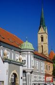 Travel photography:Houses on Trg Svetog Marka (Saint Mark`s square), Croatia