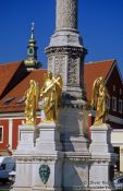 Travel photography:Sculptures near Zagreb Cathedral, Croatia