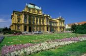 Travel photography:Zagreb theatre, Croatia