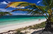 Travel photography:Tourists at Cayo-las-Bruchas beach, Cuba
