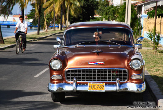 A 1955 Chevrolet in Cienfuegos