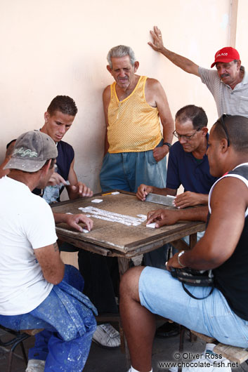 Playing domino in Cienfuegos