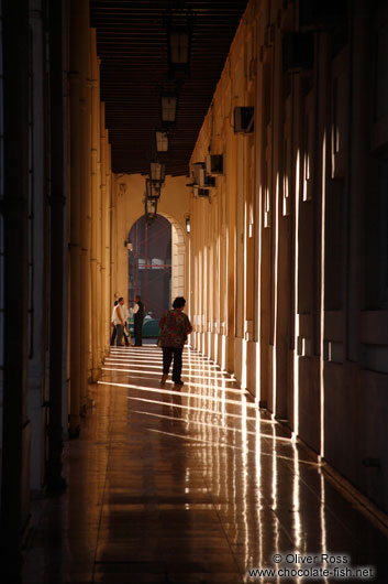 Havana arcades in evening light