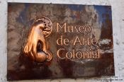 Travel photography:Plaque of the Colonial Art Museum, Cuba