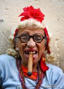 Travel photography:Woman with cigar in Havana, Cuba