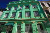 Travel photography:Green house in Havana Vieja, Cuba