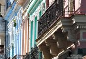 Travel photography:Houses in Havana Vieja, Cuba