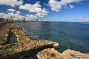 Travel photography:View of Havana bay from the Malecón, Cuba