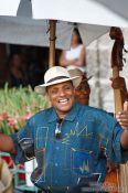 Travel photography:Singer in Havana Vieja, Cuba