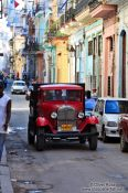 Travel photography:Classic car in Havana street, Cuba