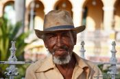 Travel photography:Old man in Trinidad, Cuba