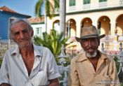 Travel photography:Old men in Trinidad, Cuba