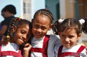 Travel photography:Trinidad school girls, Cuba
