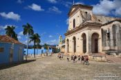 Travel photography:The Plaza Mayor (main square) with the iglesia Parroquial de la Santísima Trinidad, Cuba