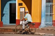 Travel photography:Cyclist in Remedios, Cuba