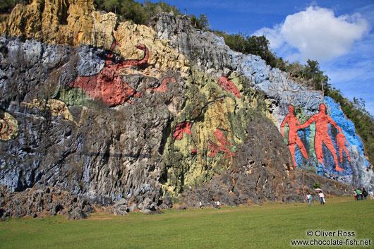 Kuba die provinz pinar del rio vi ales mural de la for Mural de la prehistoria cuba