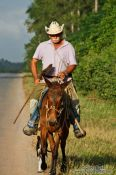 Travel photography:Man on horse near Viñales, Cuba