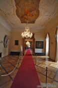 Travel photography:Hallway inside the Waldstein palace, Czech Republic