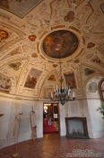 Travel photography:Reception room in the Waldstein palace, Czech Republic