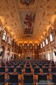 Travel photography:Large assembly room in the Waldstein palace, Czech Republic