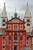 Travel photography:Church and monastery of St. George within Prague Castle, Czech Republic