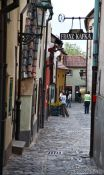 Travel photography:The Golden Alley (Zlatá ulicka) in Prague Castle, Czech Republic