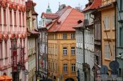 Travel photography:Houses in in Prague`s Lesser Quarter, Czech Republic