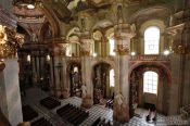 Travel photography:View of Prague`s St. Nicolas church , Czech Republic