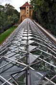 Travel photography:Roof construction of the Royal Gardens plant nursery, Czech Republic