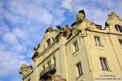 Travel photography:Facade of the Goethe Institute in Prague, Czech Republic