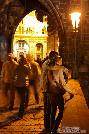 Couple on Charles Bridge