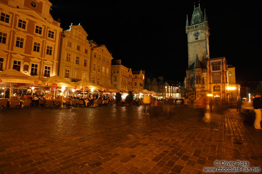 Prague`s old town square with city hall