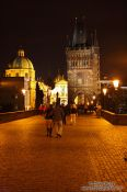 Travel photography:Charles Bidge with eastern tower, Czech Republic