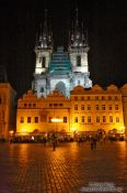 Travel photography:Old town square with Tyn church, Czech Republic