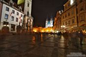 Travel photography:Approaching the old town square, Czech Republic